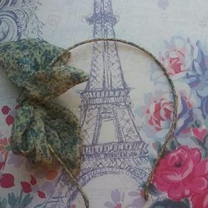 Blue Bow floral headband